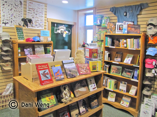 SNHA also operates the bookstore in the Visitor Center.