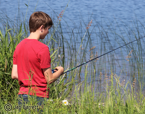 Free fishing day for children.